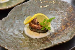 秋刀魚の生ハム巻き